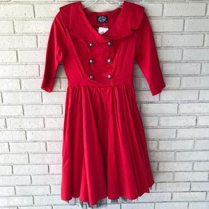 NWT Hearts&Roses London Red Dress - US6